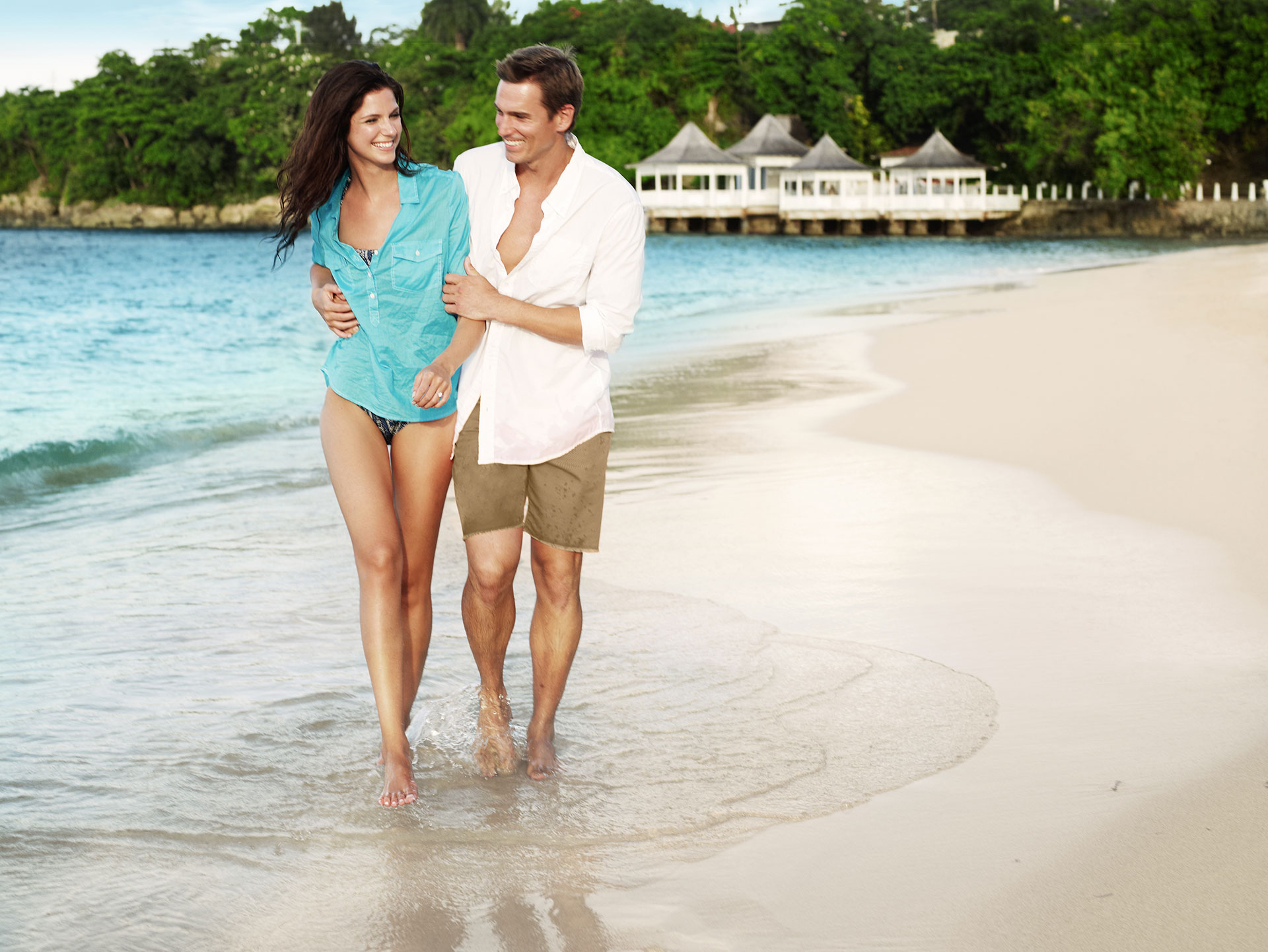 Couple adult caribbean vacation